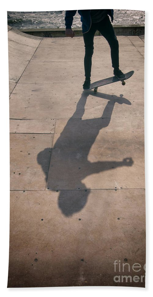 Skate Hand Towel featuring the photograph Skater Boy 002 by Clayton Bastiani