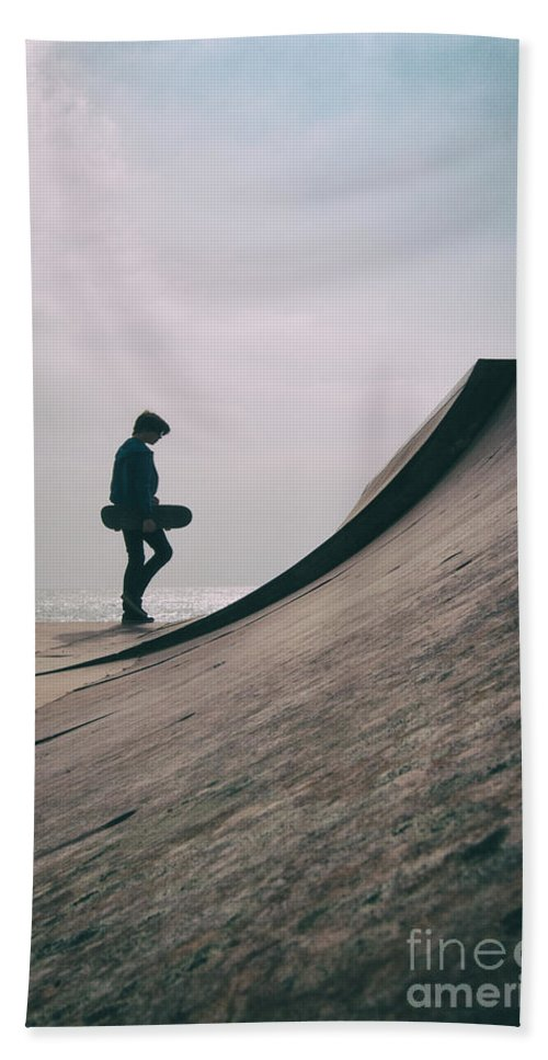Skate Hand Towel featuring the photograph Skater Boy 006 by Clayton Bastiani