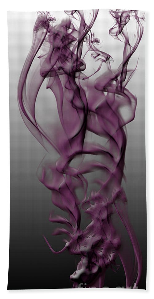 Clay Bath Towel featuring the digital art Skeletal Flow by Clayton Bruster