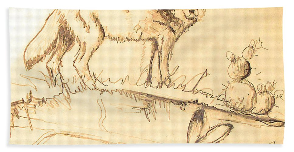 Sketches Bath Sheet featuring the drawing Sketches For Sale by Linda Shackelford