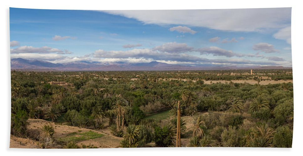 Photography Bath Sheet featuring the photograph Skoura Oasis, Souss-massa-draa, Morocco by Panoramic Images