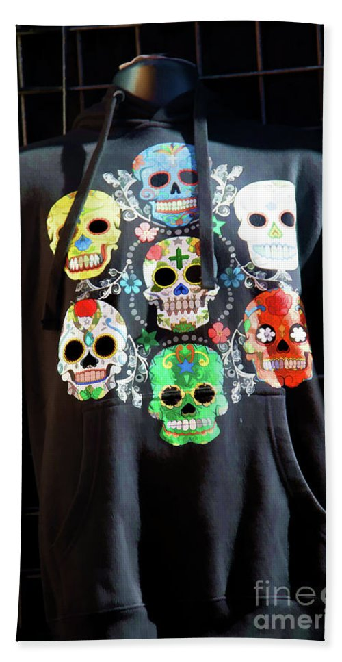Dia De Los Muertos Hand Towel featuring the photograph Skull T Shirts Day Of The Dead by Chuck Kuhn