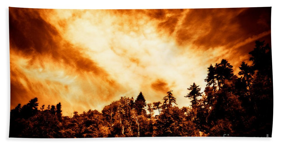 Clouds Hand Towel featuring the photograph Sky Burst by Venetta Archer