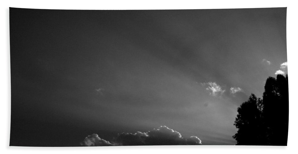 Sky Hand Towel featuring the photograph Sky Streamers by Trish Hale