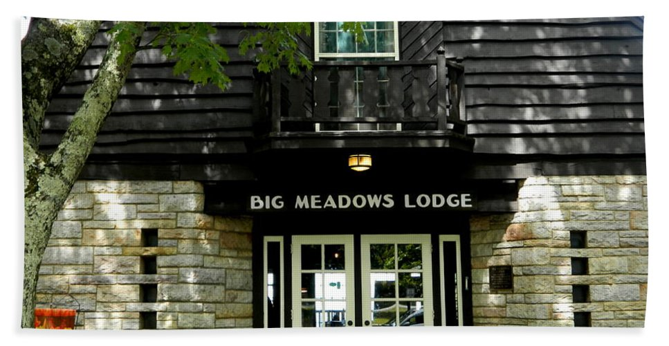 Lodge Hand Towel featuring the photograph Skyline Drive - Big Meadows by Arlane Crump