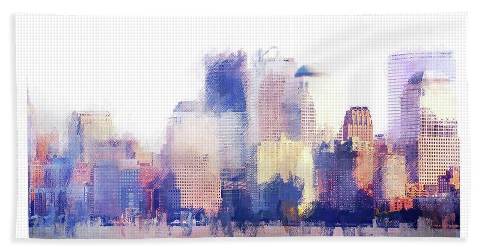 Landscape Bath Sheet featuring the photograph Skyline by Gabriele Rodriquez