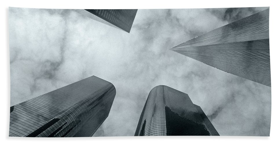 Skyscrapers Bath Sheet featuring the photograph Skyscrapers by Steve Williams