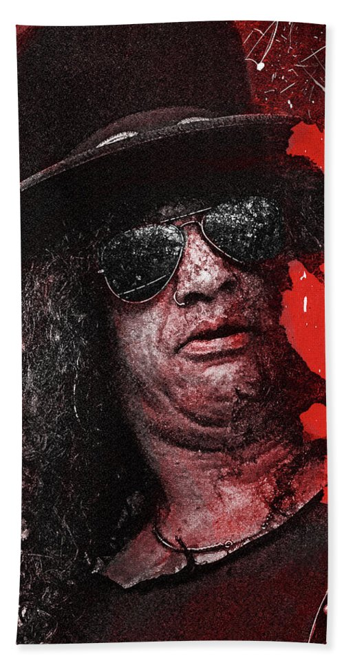 Slash Bath Towel featuring the digital art Slash by Mal Bray