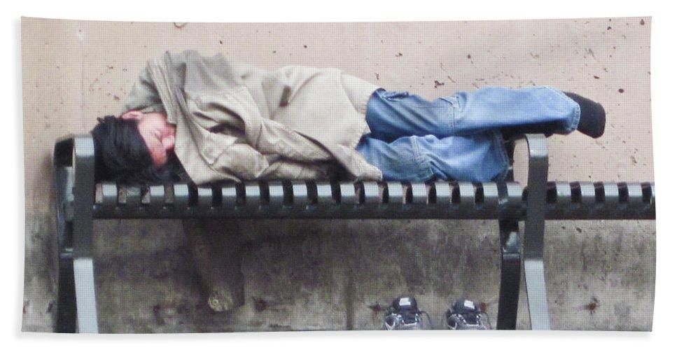 Sleeping Bath Sheet featuring the photograph Sleeping Lady by Angus Hooper Iii