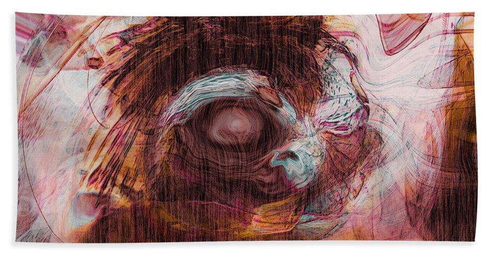 Abstract Art Bath Sheet featuring the digital art Sleepless by Linda Sannuti