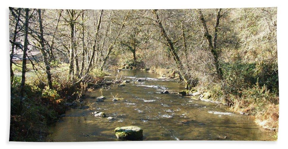 River Hand Towel featuring the photograph Sleepy Creek by Shari Chavira