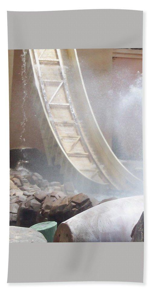 Slide Bath Sheet featuring the photograph Slide Splash by Pharris Art