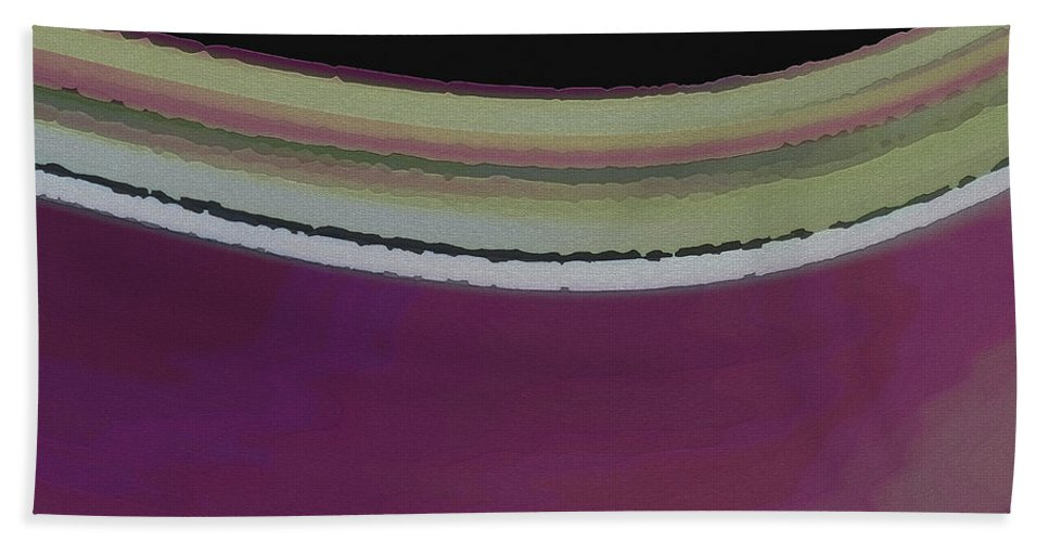 Abstract Hand Towel featuring the digital art Slight Curve by Ruth Palmer
