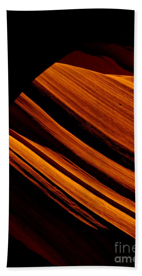 Slot Canyon Hand Towel featuring the photograph Slot Canyon Striations by Scott Sawyer