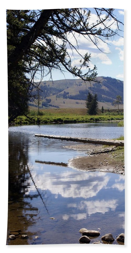 Slough Creek Hand Towel featuring the photograph Slough Creek 1 by Marty Koch