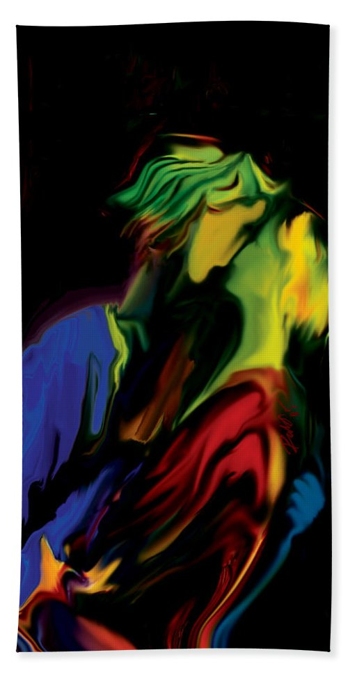 Black Bath Towel featuring the digital art Slow Dance by Rabi Khan