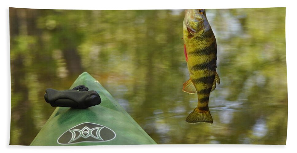 Kayak Hand Towel featuring the photograph Small Fry by Glenn Gordon