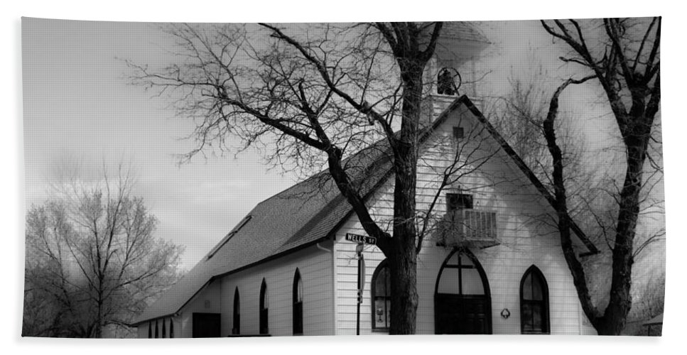 Church Bath Sheet featuring the photograph Small Town Church by James BO Insogna