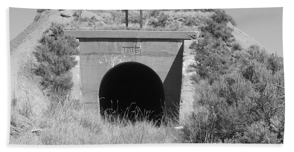 Pat Turner Hand Towel featuring the photograph Small Tunnel by Pat Turner