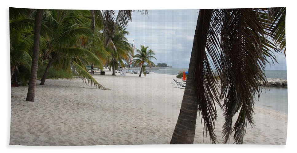 Beach Hand Towel featuring the photograph Smathers Beach - Key West by Christiane Schulze Art And Photography