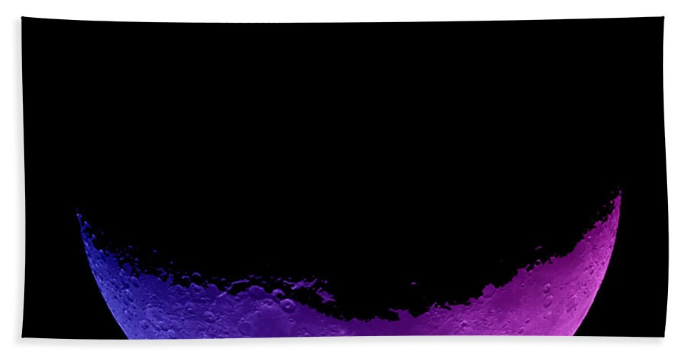 Moon Hand Towel featuring the photograph Smiling by Mark Blauhoefer
