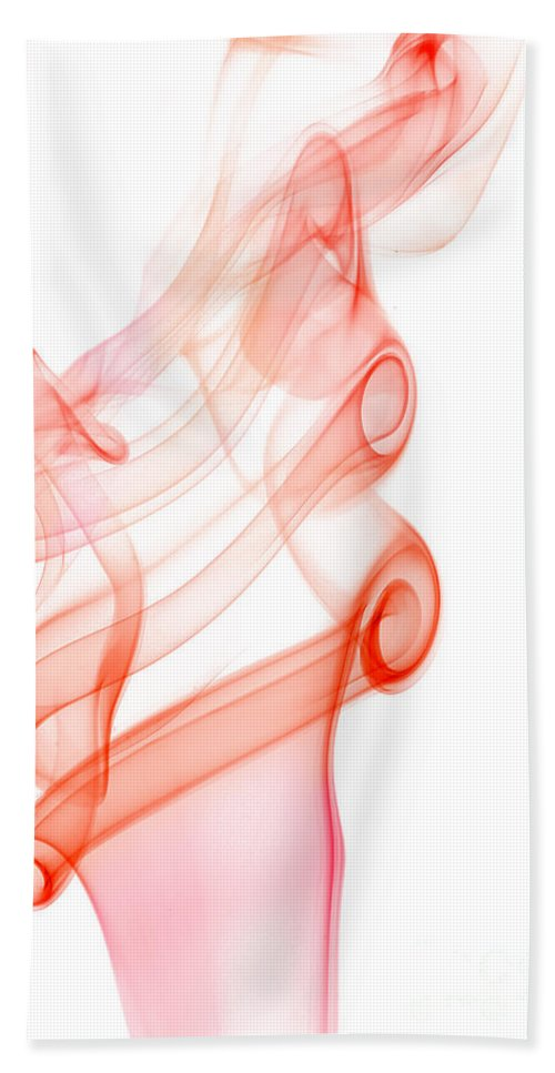 Abstract Hand Towel featuring the photograph smoke IX by Joerg Lingnau
