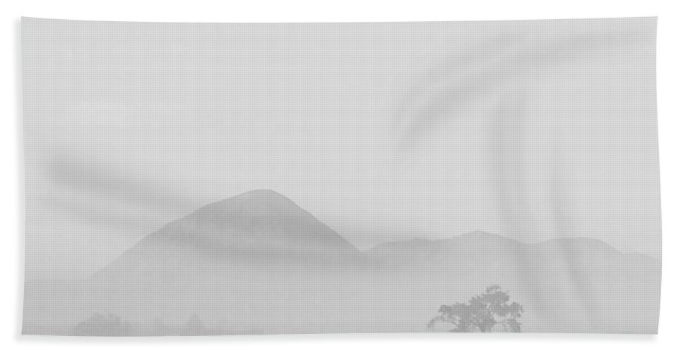 Black And White Landscape Bath Sheet featuring the photograph Smoke On Ute Mountain by Phil Conner