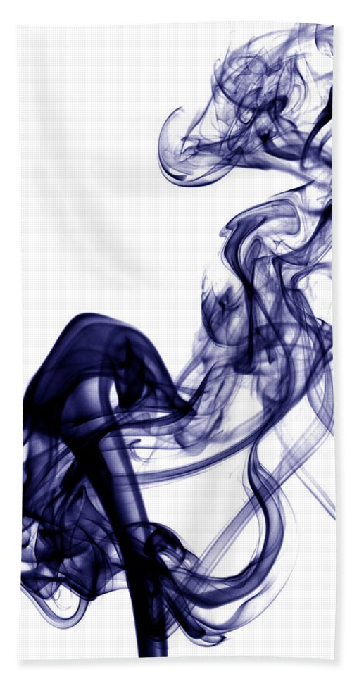 Photography Hand Towel featuring the photograph Smoke Photography - Blue by Alexander Butler