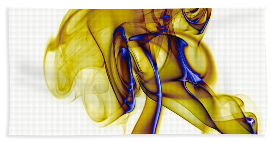 Abstract Hand Towel featuring the photograph smoke VIII c by Joerg Lingnau