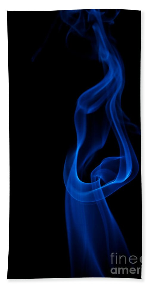 Abstract Hand Towel featuring the photograph smoke XII by Joerg Lingnau