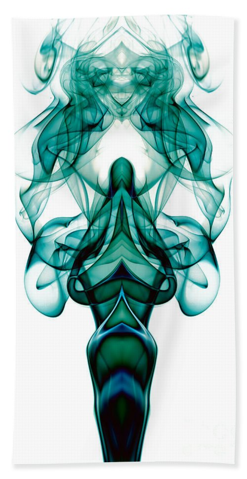 Abstract Hand Towel featuring the photograph smoke XXIII ma1 by Joerg Lingnau
