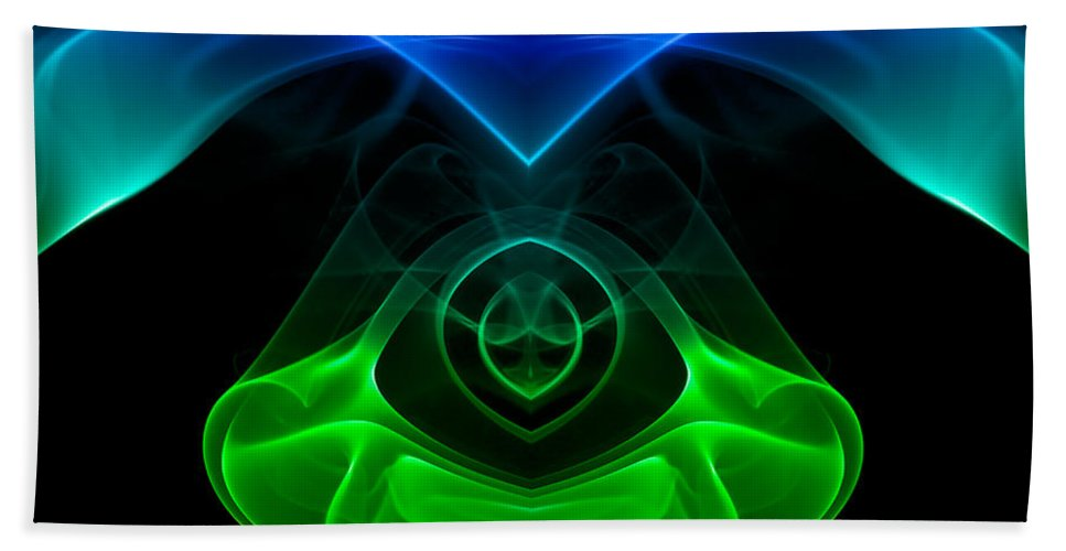 Abstract Hand Towel featuring the photograph smoke XXXII mb1 by Joerg Lingnau