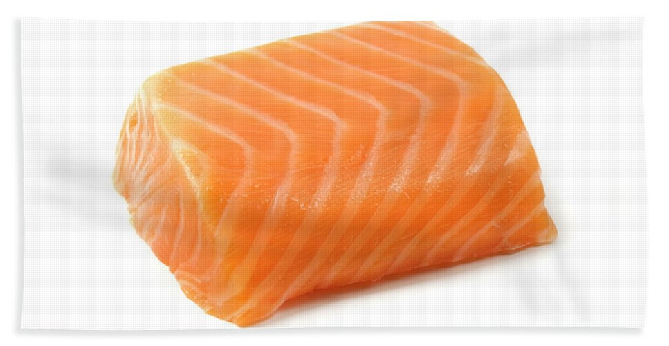 Salmon Hand Towel featuring the photograph Smoked Salmon Fillet by Fabrizio Troiani
