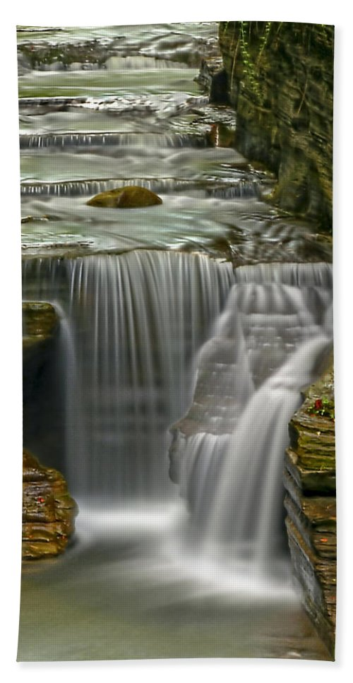 Waterfall Hand Towel featuring the photograph Smooth by Evelina Kremsdorf
