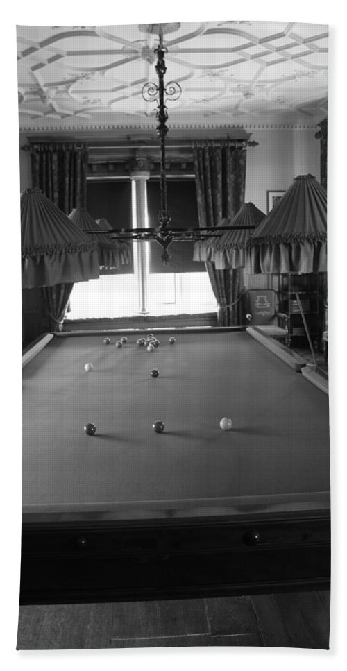 Pool Bath Sheet featuring the photograph Snooker Room by Lauri Novak