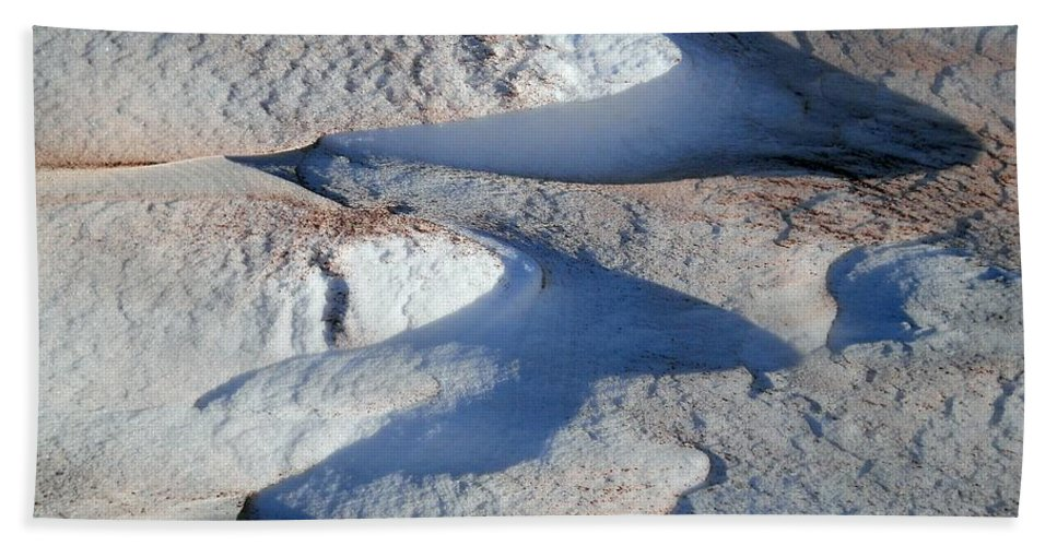 Landscape Hand Towel featuring the photograph Snow And Sand by Wolfgang Schweizer