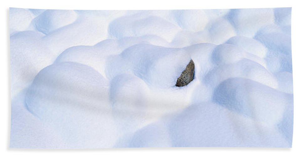 Photography Bath Sheet featuring the photograph Snow-covered Rocks In Yosemite by Panoramic Images