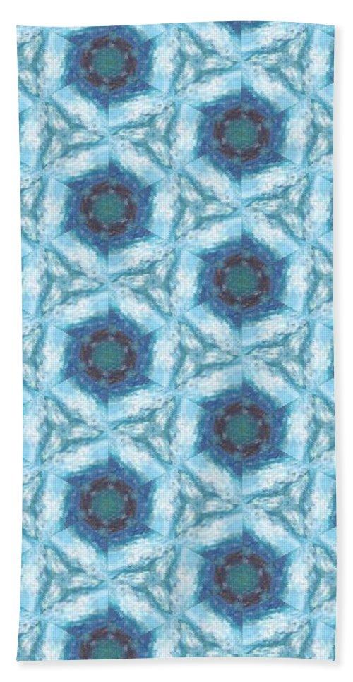 Acrylics Bath Sheet featuring the mixed media Snow Flurry by Maria Watt