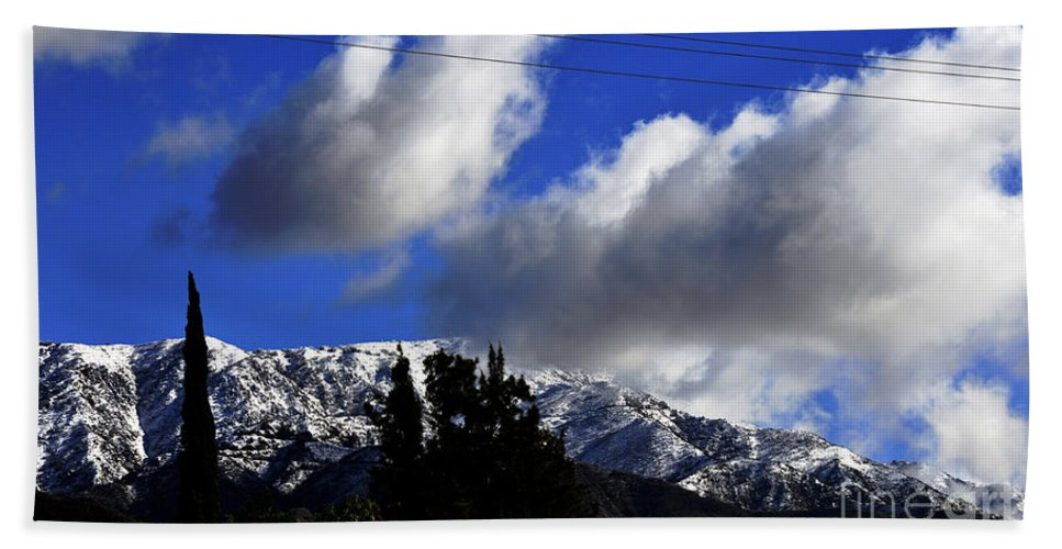 Clay Hand Towel featuring the photograph Snow Line In Socal by Clayton Bruster