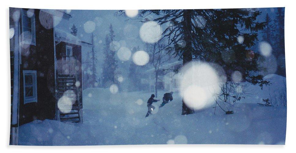 Snow Bath Sheet featuring the photograph Snow by Maria Joy