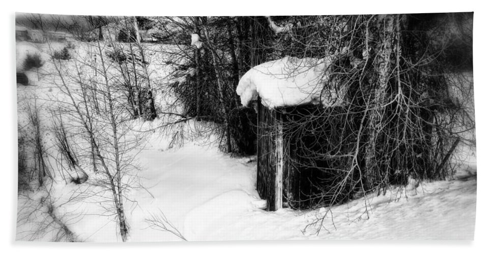 Snow Hand Towel featuring the photograph Snow Scene by Elizabeth Mix