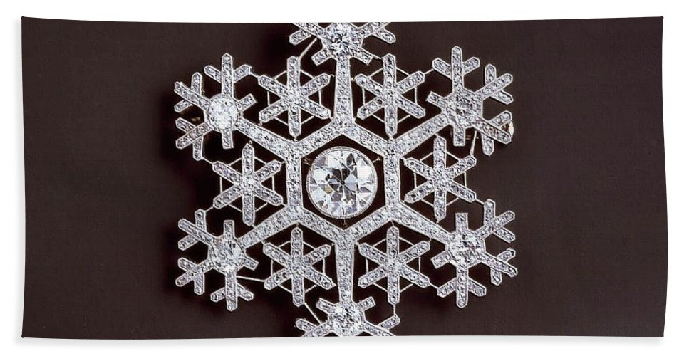 Snowflake Hand Towel featuring the photograph snowflake II by Dragica Micki Fortuna