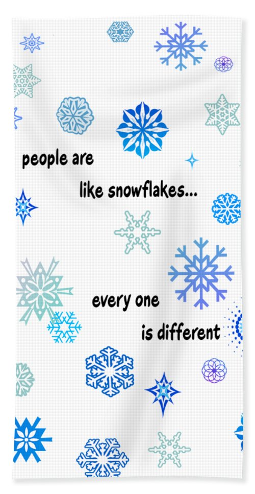 Snowflakes Hand Towel featuring the digital art Snowflakes 3 by Methune Hively