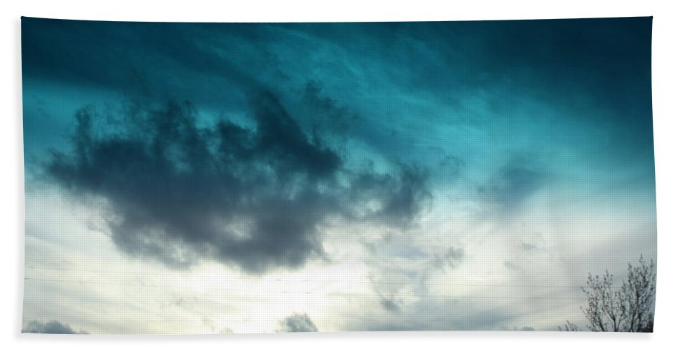 Blue Hand Towel featuring the photograph So Blue by Tamivision