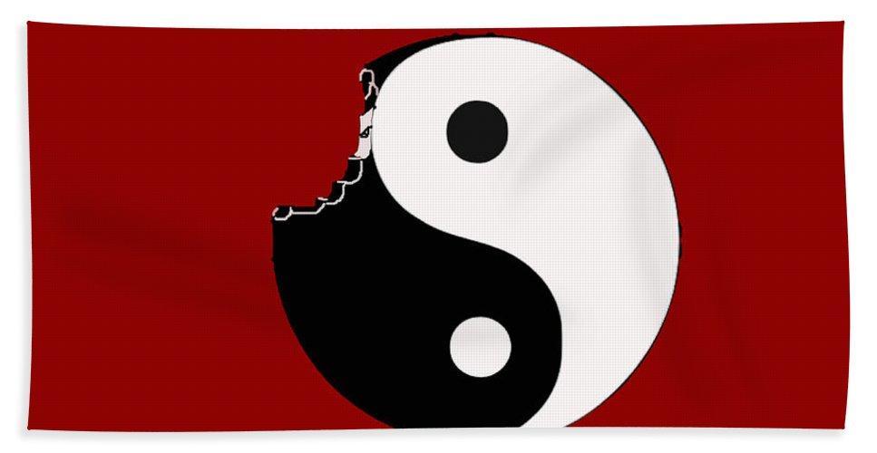 Yin Bath Sheet featuring the digital art So Goes The World by Scott Wilson