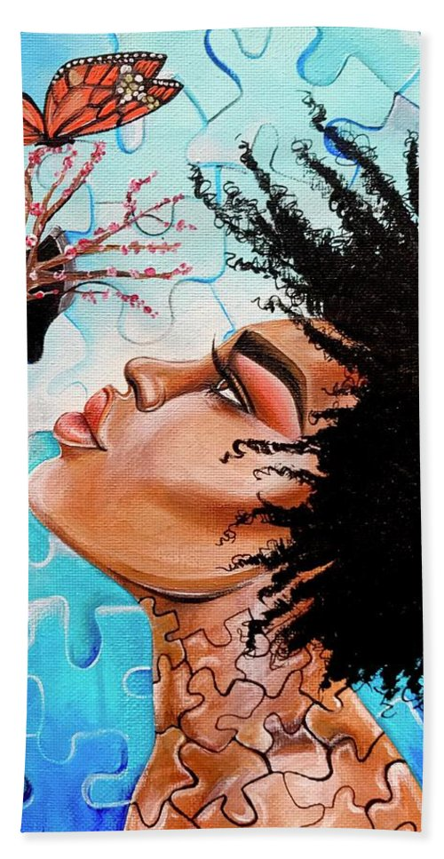 Butterfly Bath Towel featuring the photograph So Much more to me that you just cant See by Artist RiA
