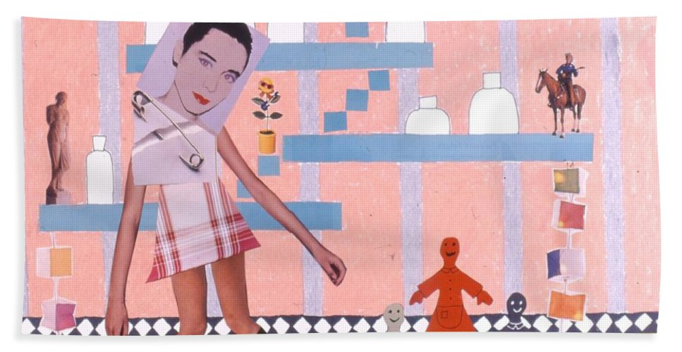 Cowboy Hand Towel featuring the drawing Soap Scene #16 Miracle Maids by Minaz Jantz