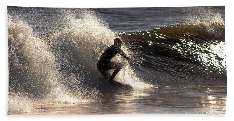 Clay Bath Sheet featuring the photograph Socal Surfing by Clayton Bruster