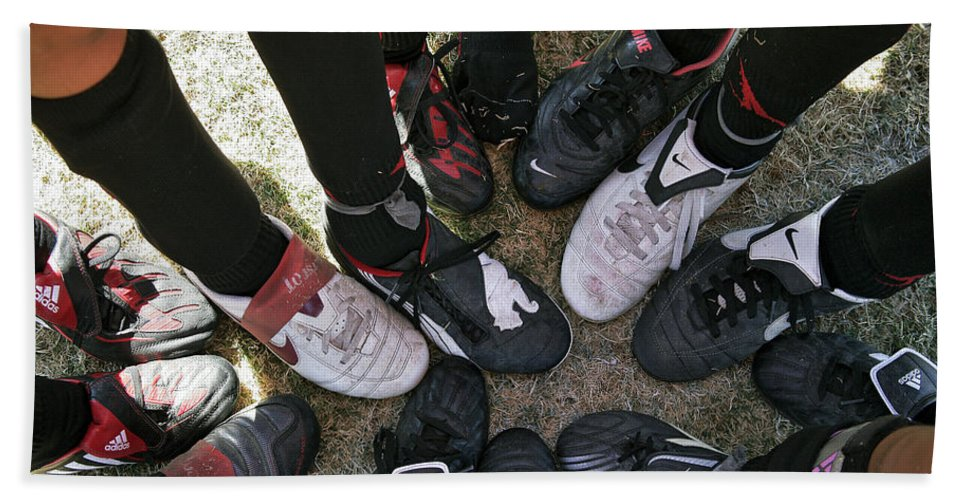 Soccer Hand Towel featuring the photograph Soccer Feet by Kelley King