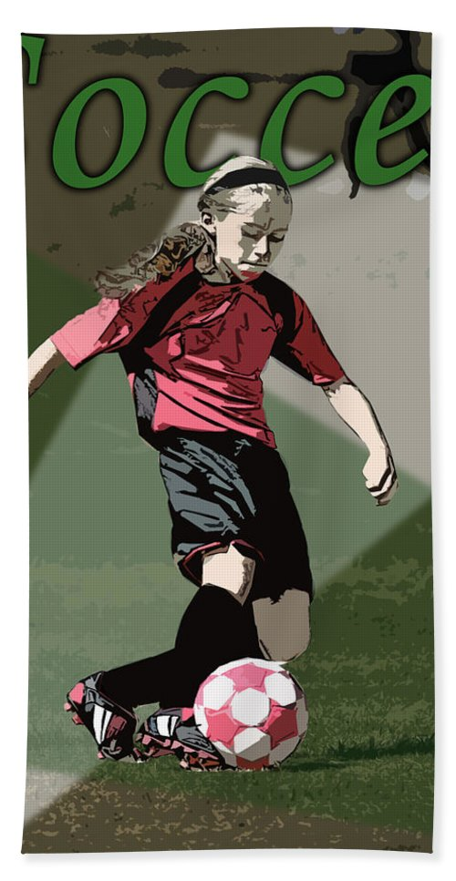 Soccer Hand Towel featuring the photograph Soccer Style by Kelley King
